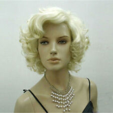 Marilyn Monroe Short Blonde Wig Curly Wavy Hair Cosplay Party Women Golden Adult For Sale Online Ebay