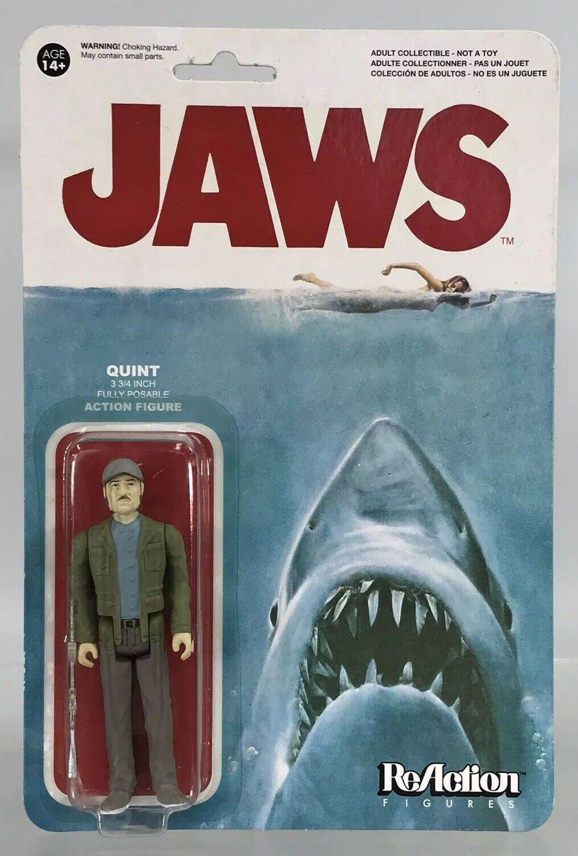 "Super7 Funko Reaction Jaws Quint Shark Hunter 3.75"" Figure New Rare Movie Series"