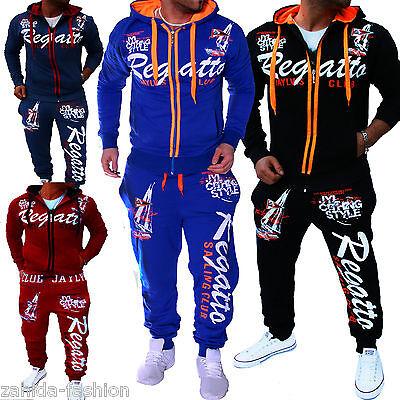 Einfach Herren Jogginganzug Jogging Hose Jacke Sporthose Fitness Sportanzug Regatta_2 Attraktive Designs;