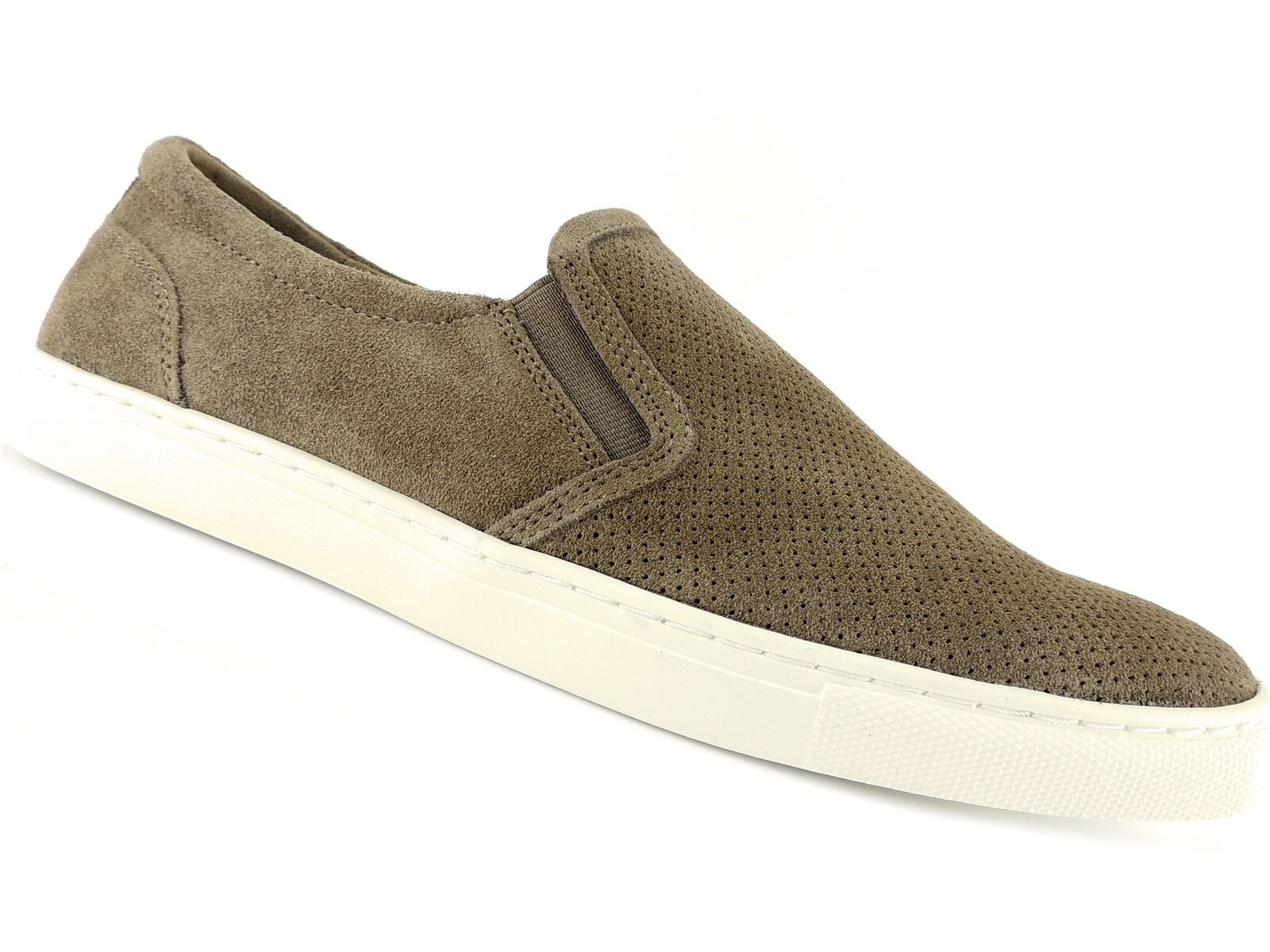 Bar III Men's Brant Slip-On Sneaker Taupe Leather Size 9.5 M