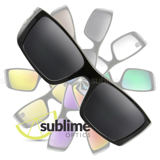 POLARIZED Black (Dark Grey) Replacement Lenses For Oakley Fuel Cell ~ charcoal