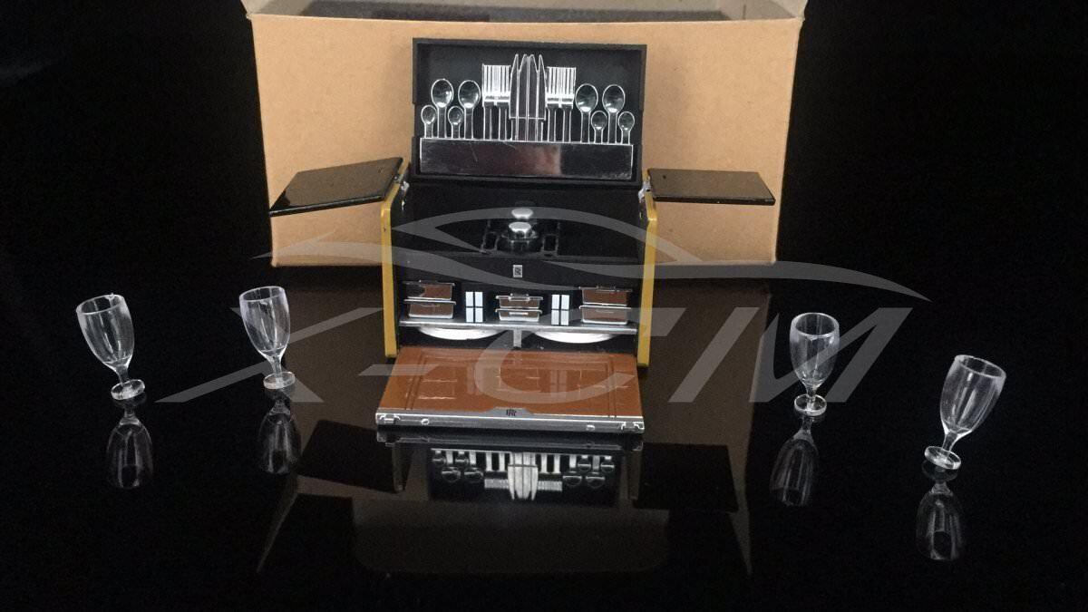 Car Model Parts Set Wine Case + Suitcase 1 18 + GIFT