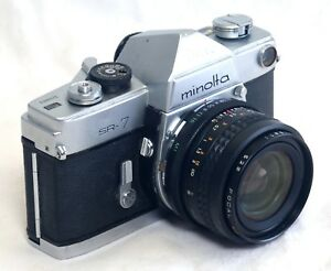 MINOLTA-SR-7-VINTAGE-SLR-35mm-Film-Camera-FOCAL-28mm-f-2-8-Lens-JAPAN