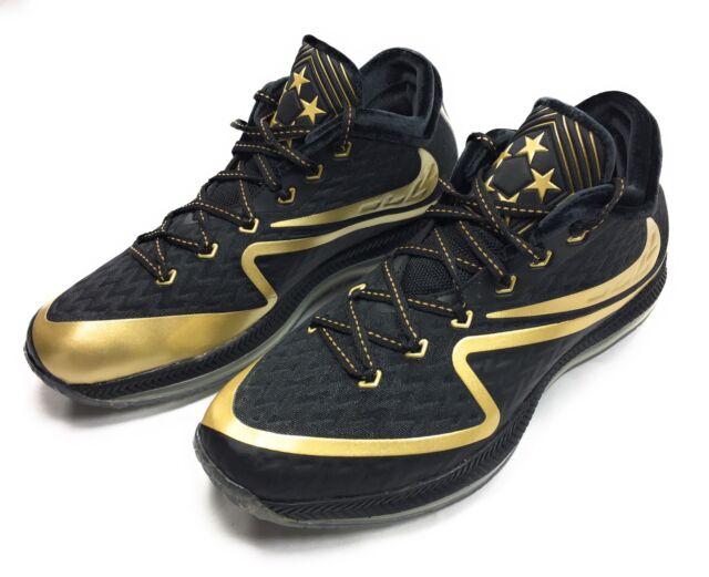 competitive price dd04a 0d9ed Nike Field General 2 II Premium Superbowl 50 Men s Footbal Shoes Black Gold  8.5