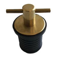 "-Seachoice Twist-Turn 1/"" Brass Neoprene Seal Boat Drain Plug 18801 6"
