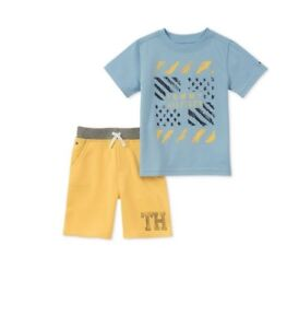 02ca4ae76 Tommy Hilfiger Baby Boys 2-Pc. Graphic-Print T-Shirt & Shorts Set ...
