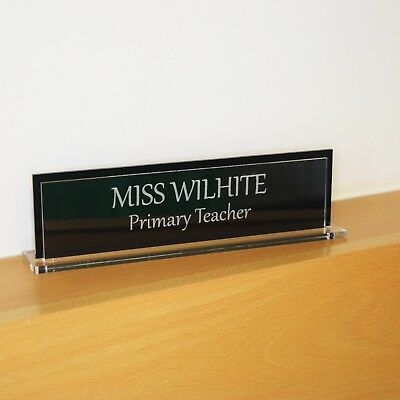 Executive Wood Desk Name Plate Personalised Engraved plaque