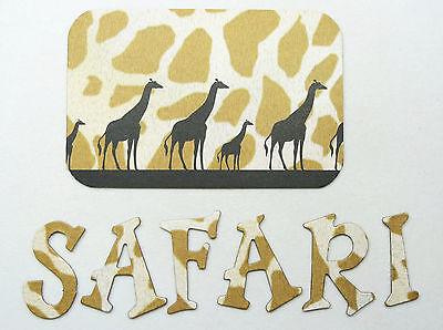 "Safari Chipboard Alphabet Letter 61 pcs set 1.5/"" stickers avail"