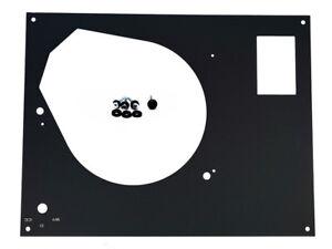 Thorens-TD-fur-SME-160-165-166-MKII-MKIV-Deckplatte-Face-Plate-Abdeckung-BLA