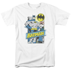 Batman-Out-Of-The-Pages-T-Shirt-Licensed-Comic-Book-Tee-White