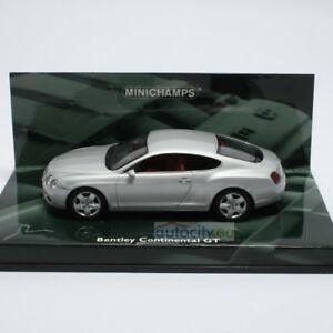 Minichamps Bentley Continental Gt Argent 436139020