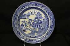 "1870's Improved Stone China ""BLUE WILLOW"" 10"" Plate, Scarce"