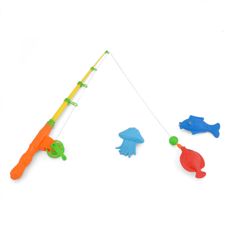 Magnetic fishing toy rod model net 10 fish kid children for Baby fishing pole
