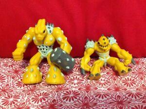 Lot-of-2-Gormiti-Giochi-Preziosi-Action-Figures-2007-2009-2-034-Yellow-Series