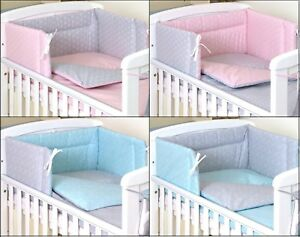 Details about TOURGUISEGREY REVERSIBLE BABY BEDDING SET COT or COT BED 3,4,5 PC+MORE DESIGNS