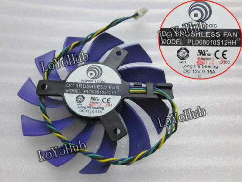 NEW For MSI graphics card fan POWER LOGIC PLD08010S12HH 12V 0.35A 4-Pin