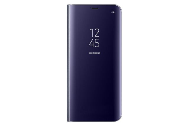 online store b90f1 2248c Samsung S-view Flip Cover Case for Galaxy S8 Orchid Gray