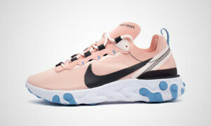 New-Nike-Women-039-s-React-Element-55-in-Coral-Stardust-Oil-Grey-Colour-Size-8-5