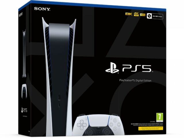 PS5 Playstation 5 Console Digital Version Sony 🔥Brand New ✈️ Next Day Overnight