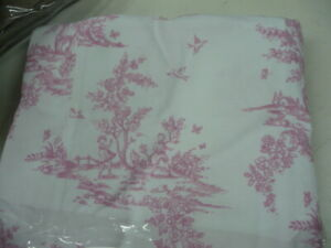Pottery Barn Lewis Isabelle Headboard Slipcover Pink Toile