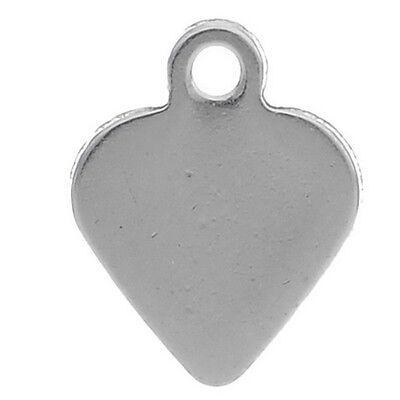 Wholesale Lots Silver Tone Stainless Steel Cross Charm Pendants 12mmx7mm
