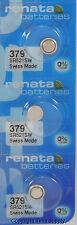 3 pc 379 Renata Watch Batteries SR521SW FREE SHIP 0% MERCURY