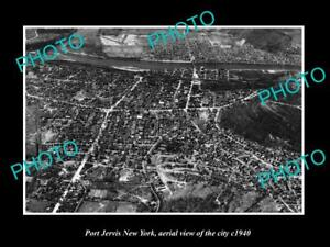 OLD-LARGE-HISTORIC-PHOTO-OF-PORT-JERVIS-NEW-YORK-AERIAL-VIEW-OF-TOWN-c1940-4