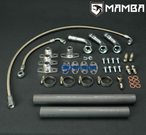 MAMBA Mitsubishi 6A13TT Galant Legnum VR4 TD03 Twin Turbo Oil Feed /& Return Line