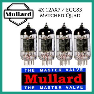 New 4x Mullard 12AX7 / ECC83 | Matched Quad / Quartet / Four Tubes | Free Ship