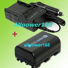 Battery + Charger For NP-FM50 FM30 NP-QM71D FM90 SONY DCR-TRV250 DCR-TRV260