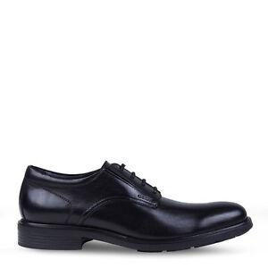 Geox Sneakers classiche Nero pelle di vitello 100% gomma 100