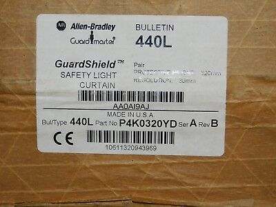 Snelle Levering Allen Bradley Type 44ol Safety Light Curtain 320mm P4k0320yd New Qty 2 Wees Onthouden In Geldzaken