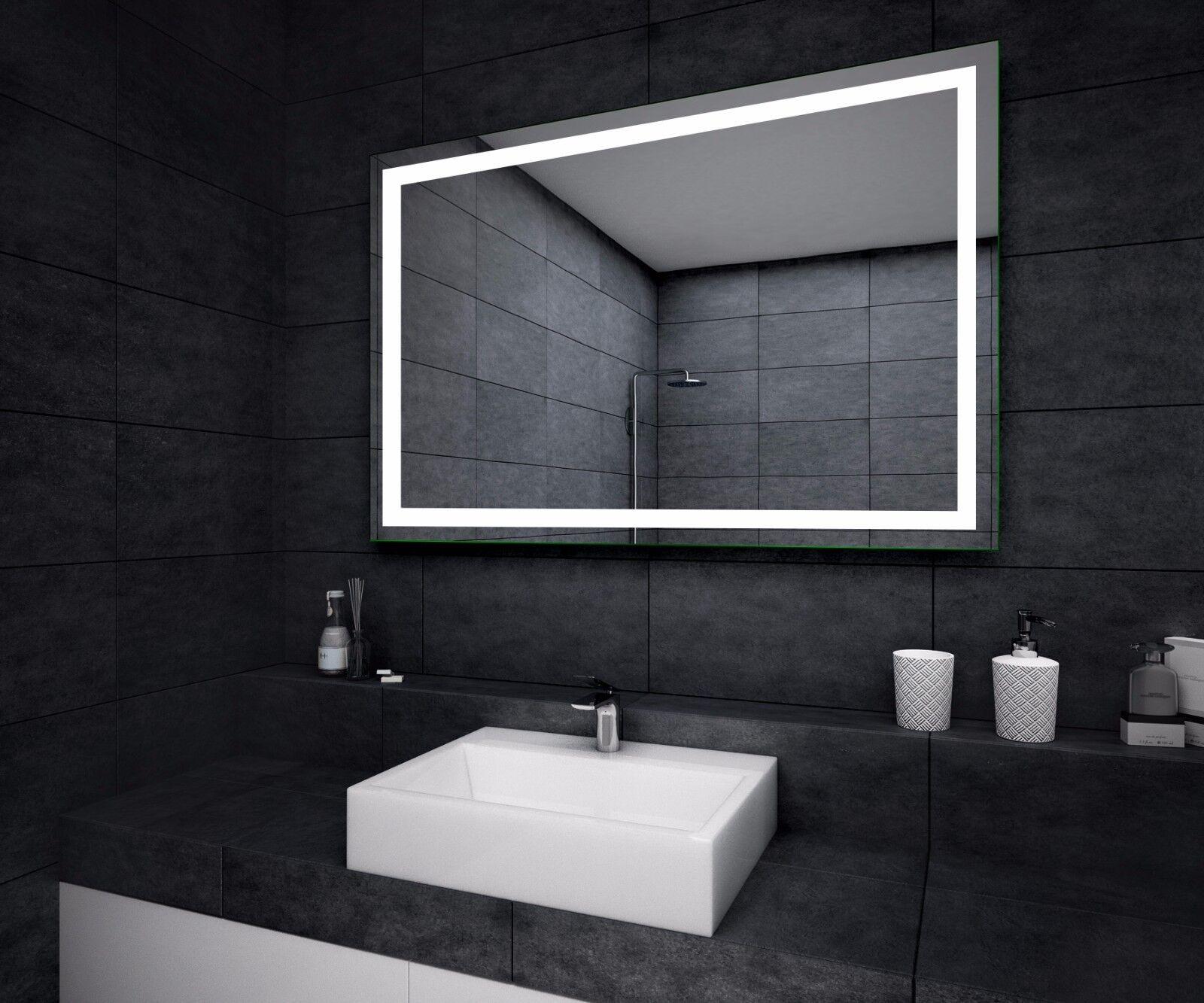 Led illuminé miroir de salle de bain L15   capteur interrupteur   désembuage