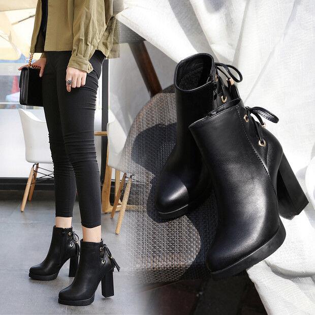 benvenuto a scegliere Stivali stivaletti bassi scarpe anfibi 10 10 10 cm nero  eleganti simil pelle 9603  più preferenziale