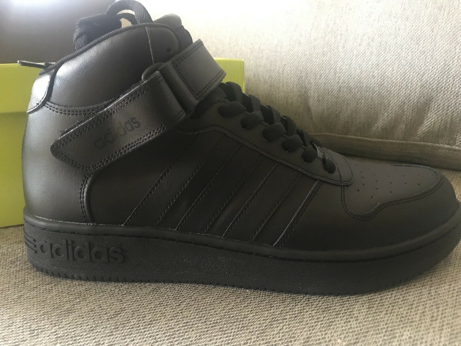 Adidas Mens Sneakers Neo Team Court Mid Size 11 Black New