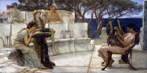 Carrelage mural Sappho Alcaeus les peuples méditerranéens cuisine dosseret Marbre Céramique