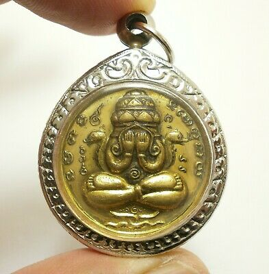 Thai Jewelry Magic Pendant Thai Buddhist Amulets Pra Prom 4 Faces Amulets Lessing for Life Wealth and Lucky Pendants