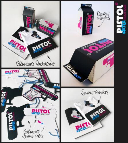 Water Pistol Boutique Kids Unisex Boys Girls SWALLOW TATTOO BIRDS Pink T-shirt