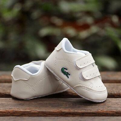 Baby Boy Girl White Sneakers Pram Shoes
