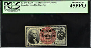 25-Cents-FR-1303-Fourth-Issue-Fractional-Currency-Extremely-Fine-PCGS-45-PPQ