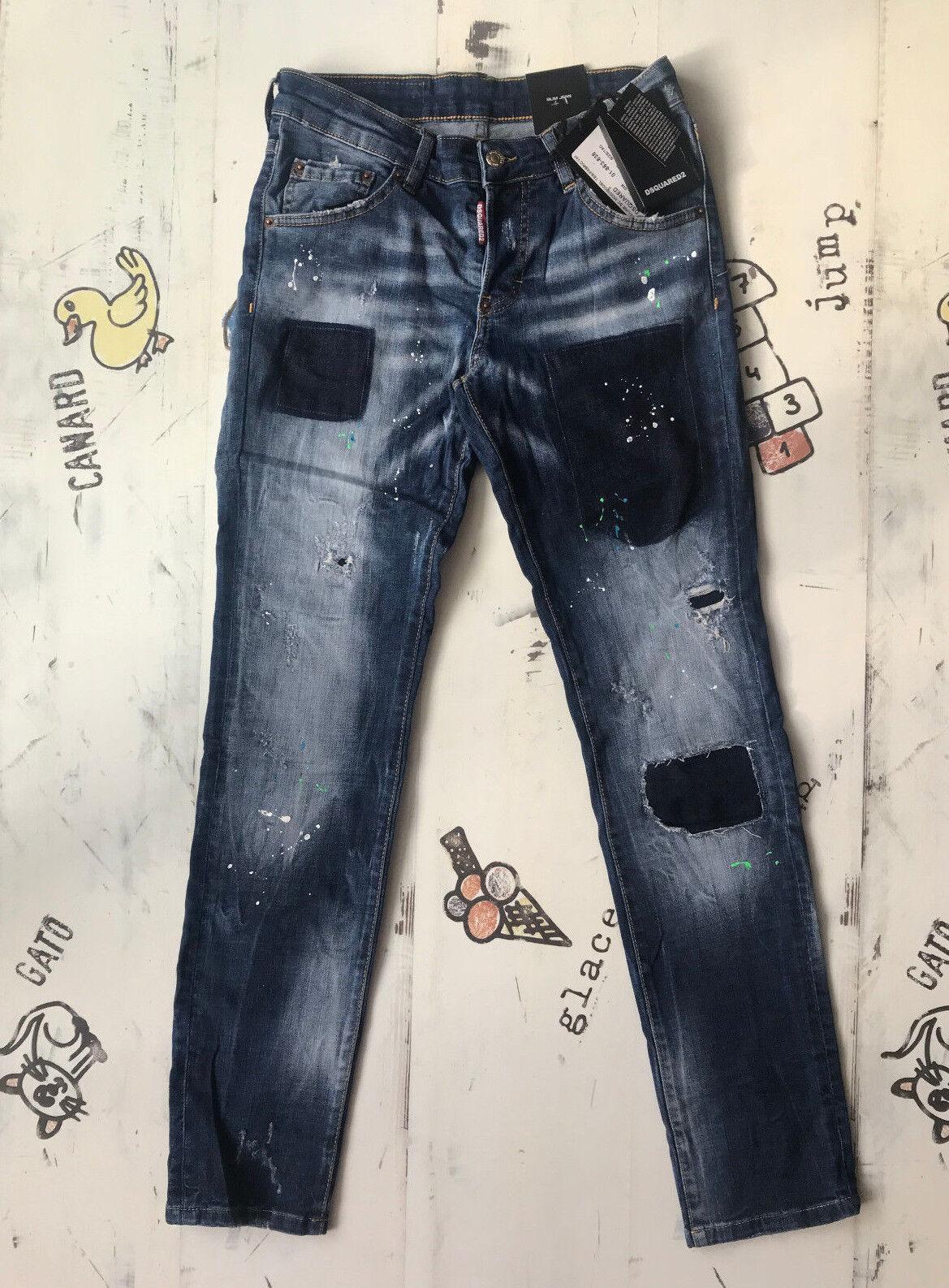 NEW Dsquared Slim Jean Jeans Waist 34    Inseam 30  SIZE 52