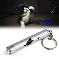 Funny Interactive Led Training Cat Play Toy Laser Pointer Pen Mouse Animation PA