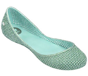 17eca2630 Zaxy NEW Amora Glitter mint green women's flat fashion ballet shoes ...