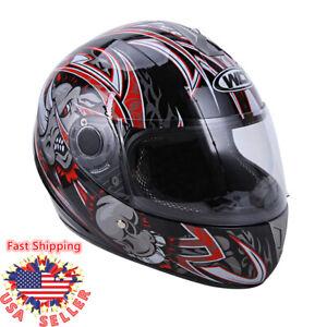 DOT Flip up Visor Full Face Motorcycle Sport Bike Racing Bike Cafe Racer Helmet