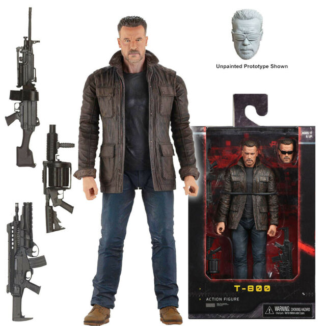 "NECA The Terminator T-800 Ultimate 7/"" Scale Action Figure Arnold Schwarzenegger"