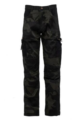 S Berufskleidung Herren Camouflage Arbeitshose Bundhose//Cargohose Gr 4XL