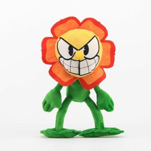 Cuphead Game Mugman Devil Demon Carnation Mecup Brocup Stuffed Plush Gift Toy
