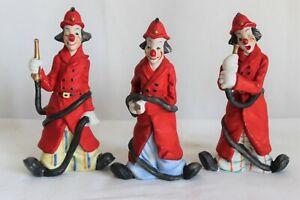 Vintage-Seymour-Mann-Porcelain-Fireman-Clowns-Set-of-3