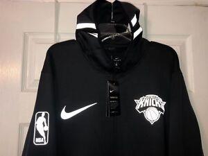 b4d1609c8 New York Knicks Showtime Therma Flex On-Court Zip BLACK Nike Dri-Fit ...