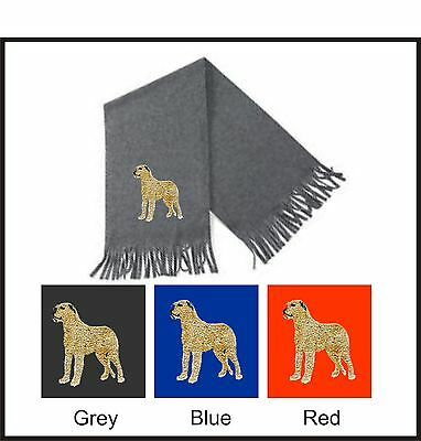 Irish Wolfhound Scarf Perfect Gift Embroidered by Dogmania